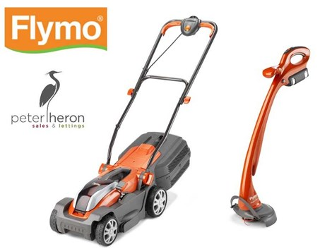 WIN A GARDEN STARTER KIT FOR YOUR NEW HOME WITH FLYMO COURTESY OF PETER HERON SALES AND LETTINGS