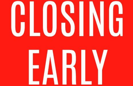 OFFICES CLOSING EARLY FOR STAFF TRAINING