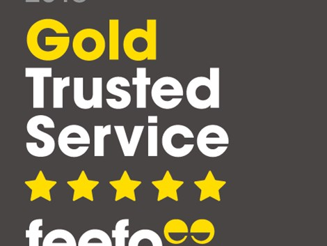Peter Heron Awarded Feefo Gold Trusted Service Award 2018