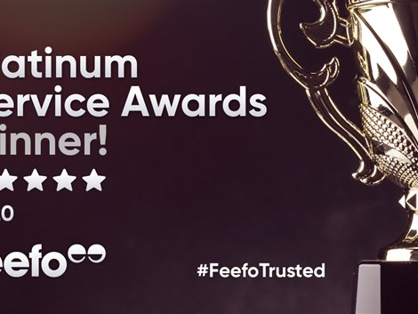 Peter Heron receives Feefo Platinum Trusted Service Award 2020