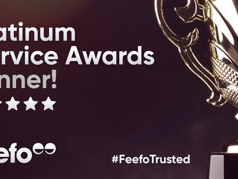 Peter Heron receives Feefo Platinum Trusted Service Award 2021